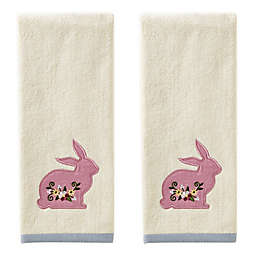 SKL Home Easter Bunny Hand Towels in Natural (Set of 2)