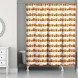 Designs Direct 71-Inch x 74-Inch Pumpkin Pattern Shower Curtain