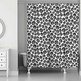 Designs Direct 71-Inch x 74-Inch Pumpkin Pattern Shower Curtain
