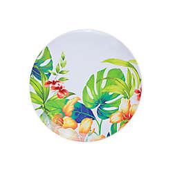 Tropical Palm Melamine Salad Plate
