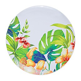 Tropical Palm Melamine Dinner Plate