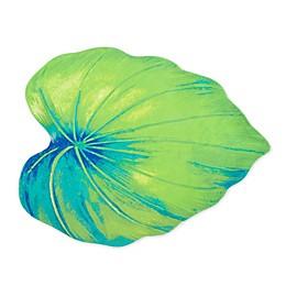 Monstera Tropical Leaf Melamine Serving Platter in Green