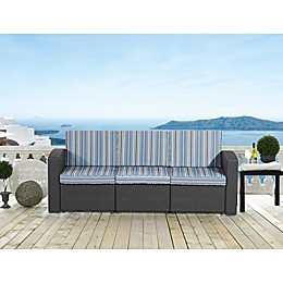 Relax-A-Lounger San Bruno Outdoor Wicker Sofa with Cushion