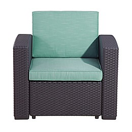 Relax-A-Lounger San Bruno Outdoor Wicker Chair in Teal