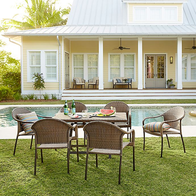 Alternate image 1 for Barrington Wicker Patio Furniture Collection