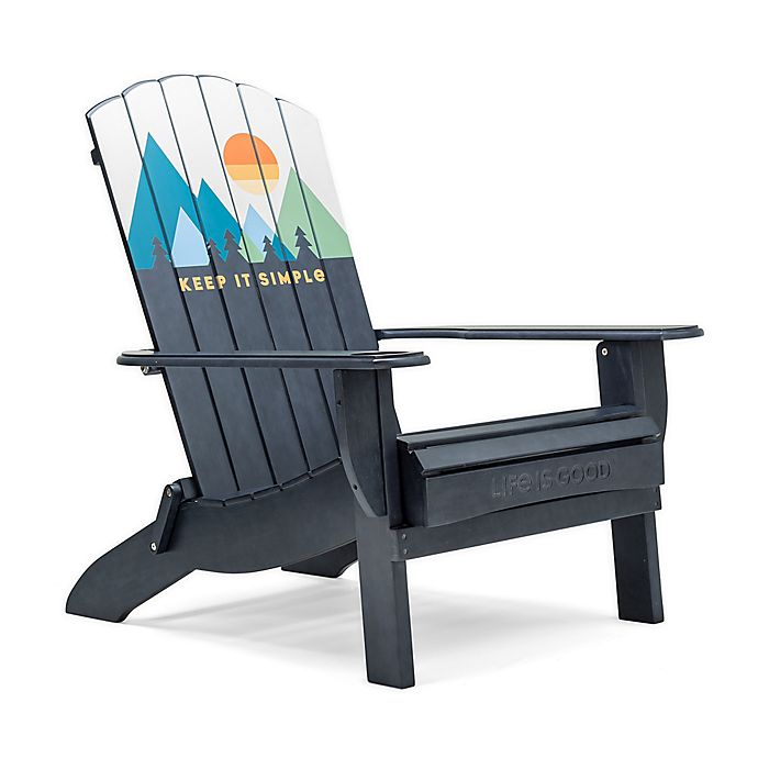 Alternate image 1 for Life is Good® Adirondack Folding Chair in Blue