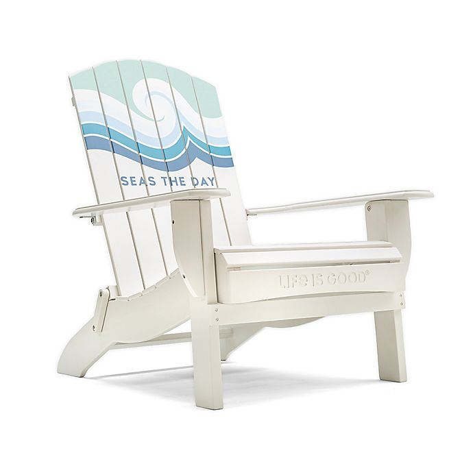 Alternate image 1 for Life is Good® Adirondack Folding Chair in White