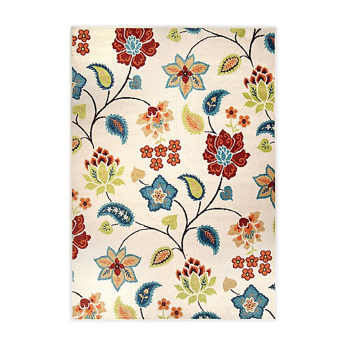Alternate image 1 for Orian Rugs Garden Chintz 108-Inch x 156-Inch Area Rug in Ivory