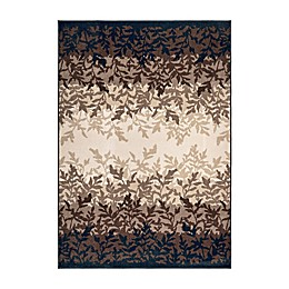 Orian Rugs Leafy Layers Catalina Indoor/Outdoor Area Rug in Blue