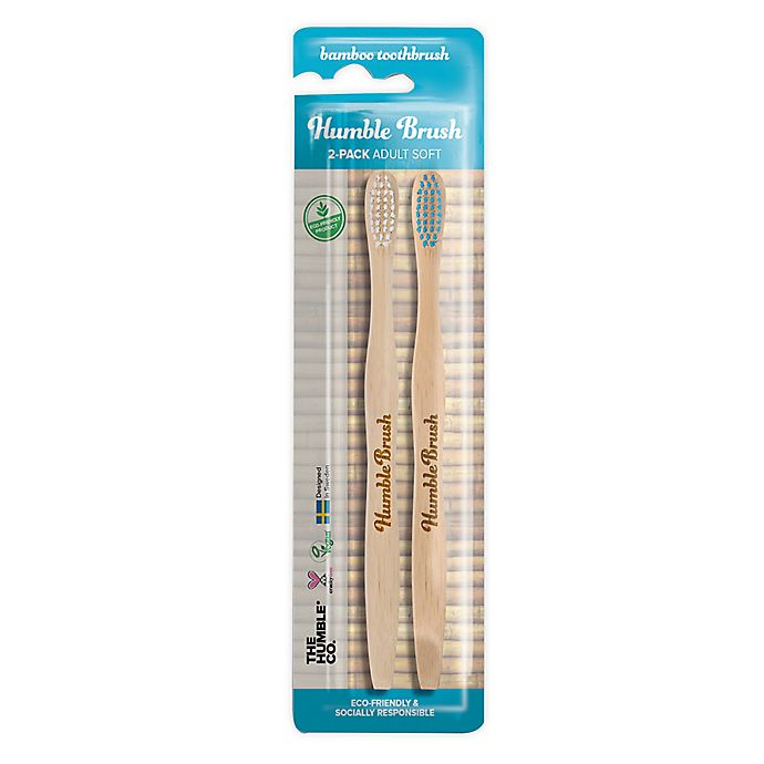 Alternate image 1 for The Humble Co® Humble Brush 2-Pack Adult Soft Bamboo Toothbrush