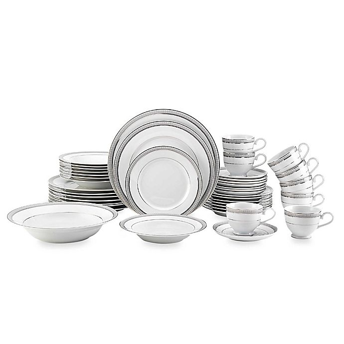 Alternate image 1 for Mikasa® Platinum Crown 42-Piece Dinnerware Set