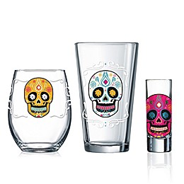 Luminarc Sugar Skull Wine & Bar Collection