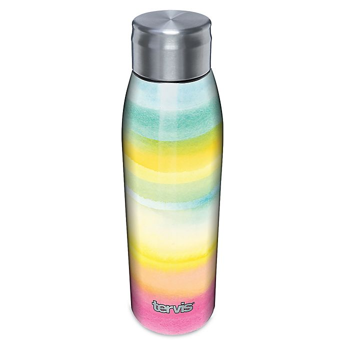 Alternate image 1 for Tervis® Yao Cheng Summer Crush 17 oz. Stainless Steel Water Bottle with Lid