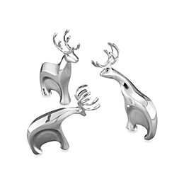 Nambe Blitzen Reindeer Figurines (Set of 3)