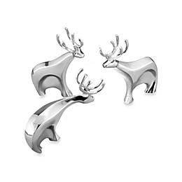 Nambe Dasher Reindeer Figurines (Set of 3)
