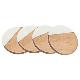 Godinger® Marble and Wood Coasters (Set of 4)