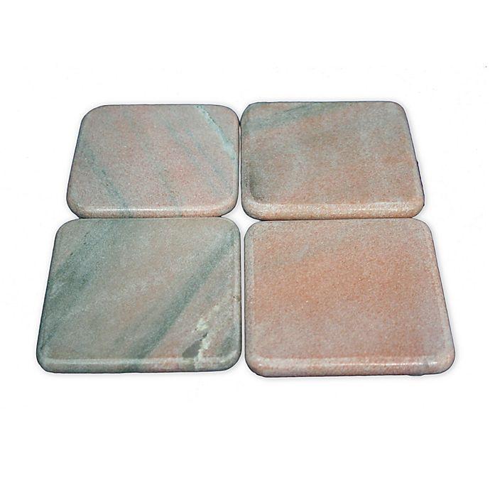 Alternate image 1 for Jodhpuri Pink Marble Coasters (Set of 4)