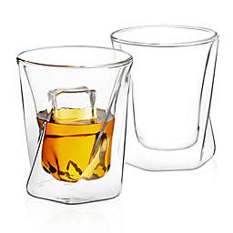 Joyjolt® Lacey Whiskey Glasses (Set of 4)