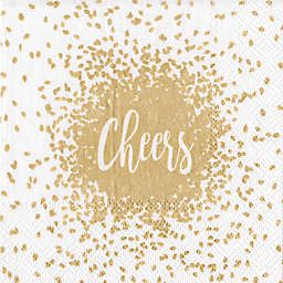 Caspari 20-Count 3-Ply Cheers Paper Cocktail Napkins