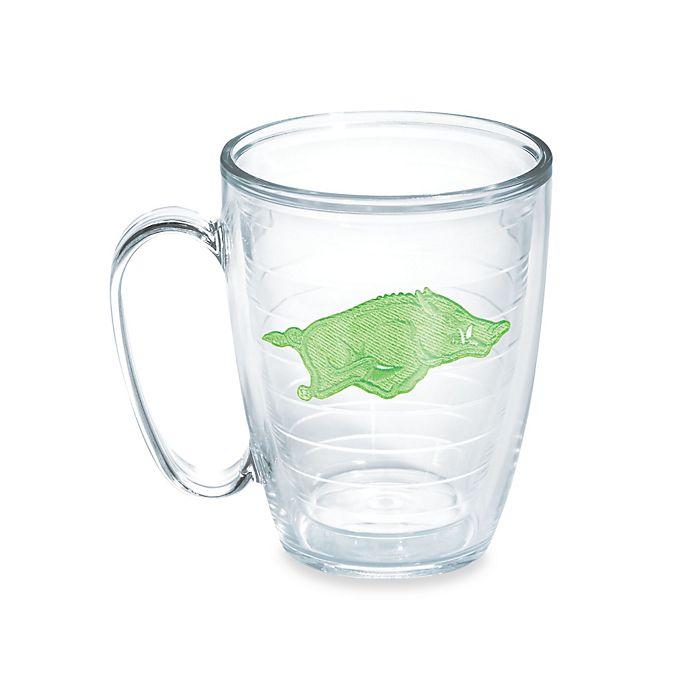 Alternate image 1 for Tervis® University of Arkansas 15 oz. Emblem Mug in Neon Green