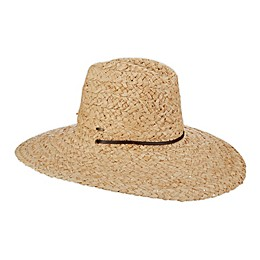 Scala™ Raffia Lifeguard Hat with Chin Cord in Natural