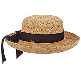 Scala™ Braided Raffia Hat with Herringbone Bow in Natural