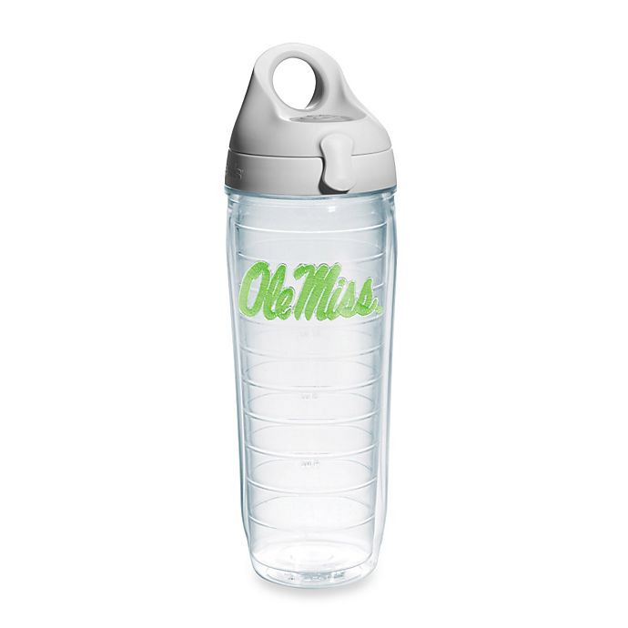Alternate image 1 for Tervis® University Of Mississippi Rebels 24-Ounce Water Bottle in Neon Green