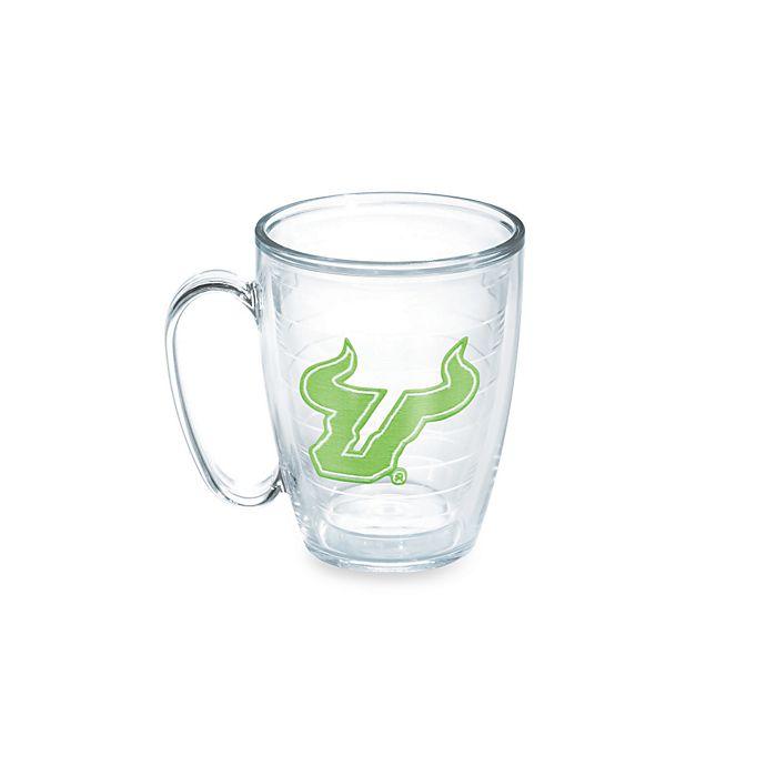Alternate image 1 for Tervis® University of South Florida Bulls 15-Ounce Emblem Mug in Neon Green