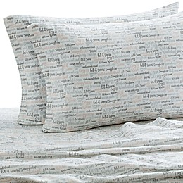 Laundry by SHELLI SEGAL® 160 GSM Words Flannel Sheet Set