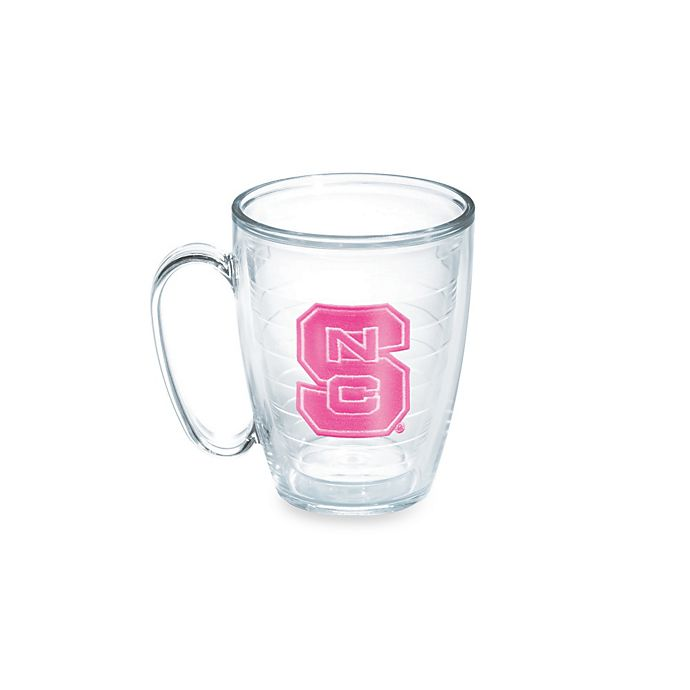 Alternate image 1 for Tervis® North Carolina State University Wolfpack 15-Ounce Emblem Mug in Neon Pink