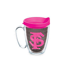 Tervis® Florida State University Seminoles 15 oz. Colored Emblem Mug with Lid in Neon Pink