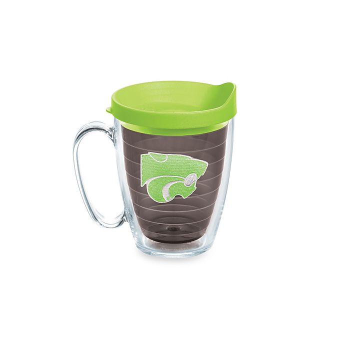 Alternate image 1 for Tervis® Kansas State University Wildcats 15 oz. Colored Emblem Mug with Lid in Neon Green