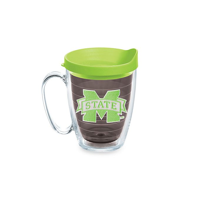 Alternate image 1 for Tervis® Mississippi State University Bulldogs 15-Ounce Emblem Mug with Lid in Neon Green