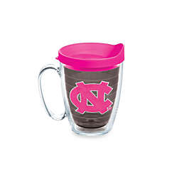 Tervis® University of North Carolina Tar Heels 15-Ounce Colored Emblem Mug with Lid in Neon Pink
