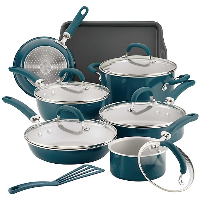 Alternate image 1 for Rachael Ray™ Create Delicious Nonstick Aluminum 13-Piece Cookware Set