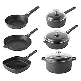 BergHOFF® Gem Nonstick Cast Aluminum 9-Piece Cookware Set in Black