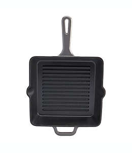 Sartén grill de hierro fundido Artisanal Kitchen Supply® de 25 cm en grafito