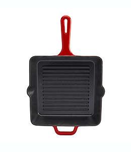 Sartén grill de hierro fundido Artisanal Kitchen Supply® esmaltado de 25 cm en vino
