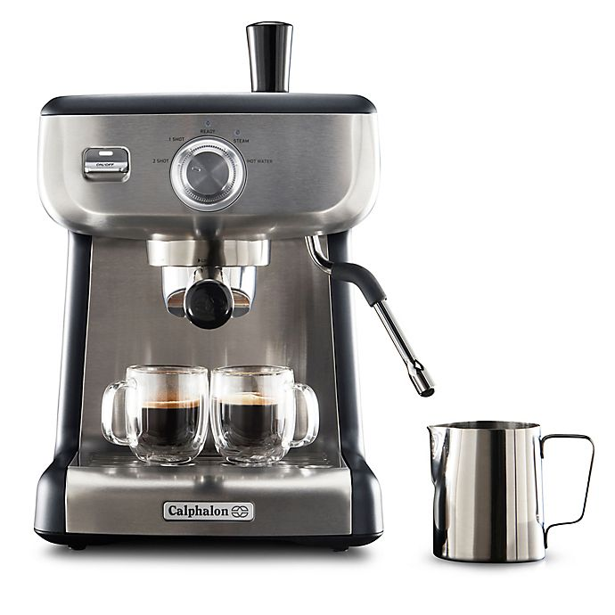Alternate image 1 for Calphalon® Temp iQ Stainless Steel Espresso Machine