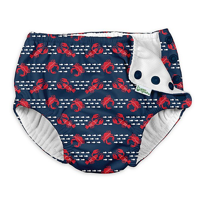 Alternate image 1 for i play.® by green sprouts® Size 24M Lobster Swim Diaper in Navy