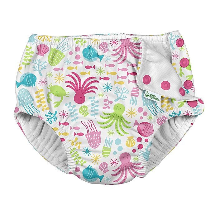 Alternate image 1 for i play.® by green sprouts® Size 24M Coastal Swim Diaper in White
