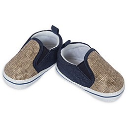 Little Me® Twin Gore Casual Shoe in Tan/Navy