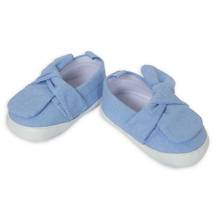 Alternate image 1 for Little Me® Knit Chambray Slip-On Shoe