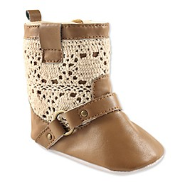 Luvable Friends® Crochet Lace Boot in Tan