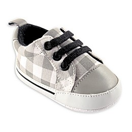 Luvable Friends® Plaid Canvas Sneaker in Grey