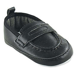 Luvable Friends® Size 12-18M Slip-On Loafer Shoe in Black