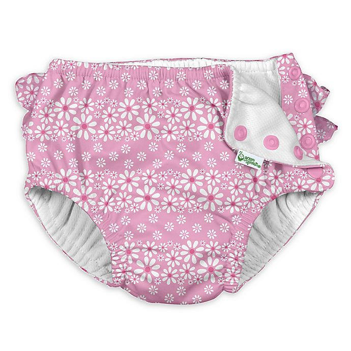 Alternate image 1 for i play.® by green sprouts® Size 12M Daisy Swim Diaper in Pink