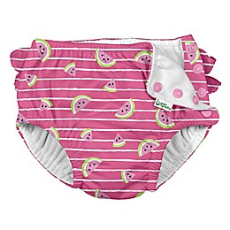 i play.® by green sprouts® Watermelon Ruffle Swim Diaper in Hot Pink