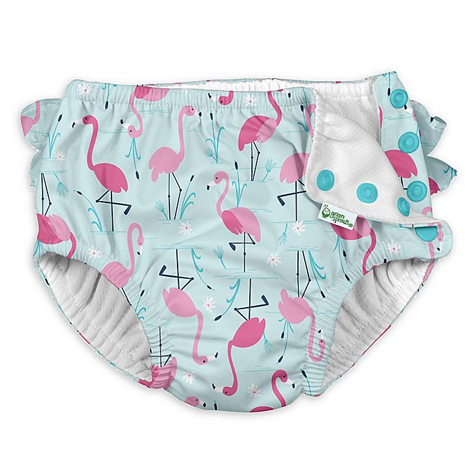 Alternate image 1 for i play.® by green sprouts® Flamingo Swim Diaper in Aqua