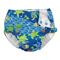 i play.® by green sprouts® Size 24M Turtle Swim Diaper in Blue